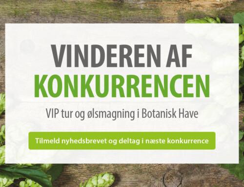 Vinderen af VIP-tur i Botanisk Have